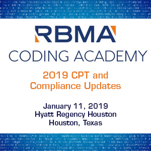 Display event - Coding Academy: 2019 CPT and Compliance Updates