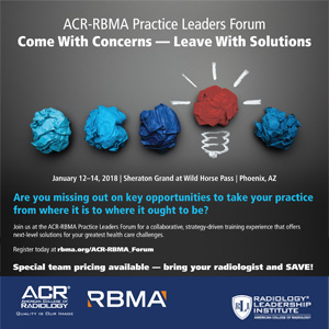 2018 ACR-RBMA Practice Leaders Forum